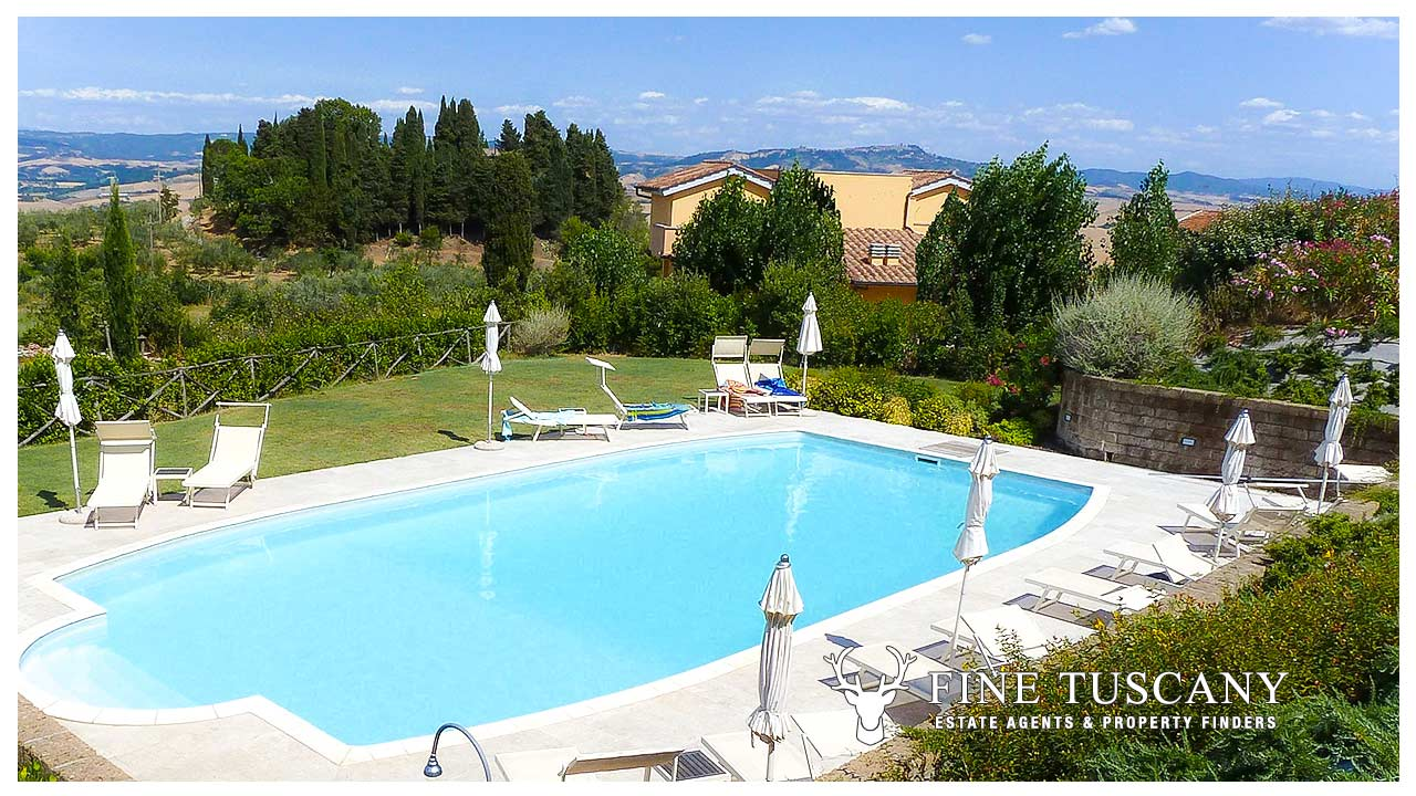 Apartment for sale in orciatico lajatico tuscany for 6 bedroom house with swimming pool for sale