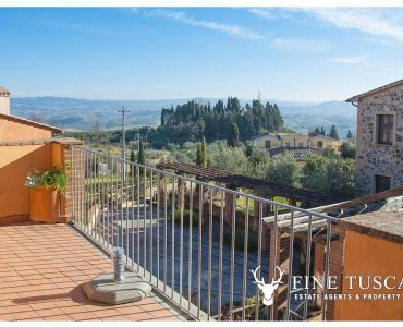 Apartment with swimming pool for sale in Orciatico Tuscany Italy