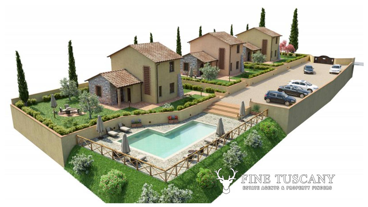 Off plan 3 bedroom villa in orciatico tuscany italy for 3 bedroom villa plans