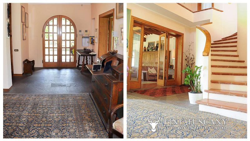 Villa for sale in Bientina, Tuscany, Italy - Entrance hall and stairs