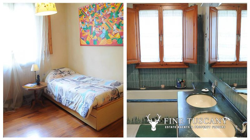 Villa for sale in Bientina, Tuscany, Italy - Ground floor single bedroom and bathroom