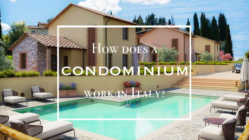 Condominium property in Tuscany Italy